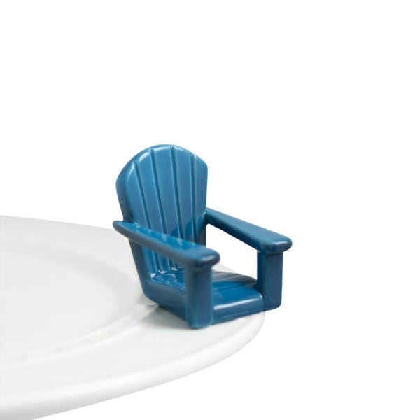Nora Fleming Mini Chillin' Chair (Blue Adirondack Chair)