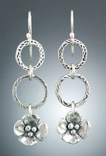 Sherry Tinsman Small Dogwoods Hoop Earrings