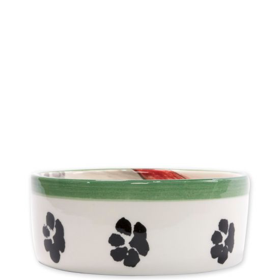 Vietri OLD ST NICK DOG BOWL