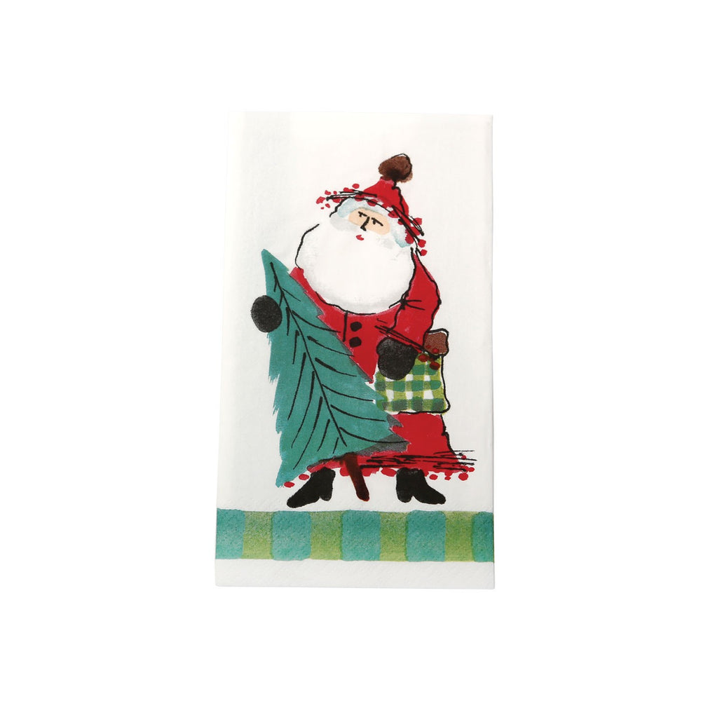 Vietri Old St. Nick Guest Towel—Green