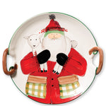 Vietri OLD ST NICK HANDLED ROUND PLATTER WITH LAMB