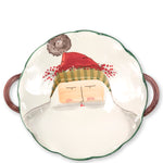 Vietri OLD ST NICK SCALLOP HANDLED BOWL WITH FACE