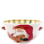 Vietri OLD ST NICK HANDLED MEDIUM BOWL WITH SANTA READING