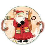 Vietri OLD ST NICK HANDLED ROUND PLATTER - ASSORTED SPORTS