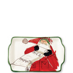 Vietri OLD ST NICK RECTANGULAR PLATE - NAUGHTY OR NICE