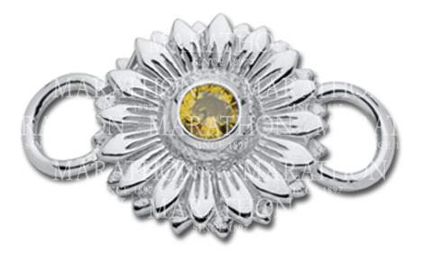 LeStage Sunflower with Yellow CZ Clasp