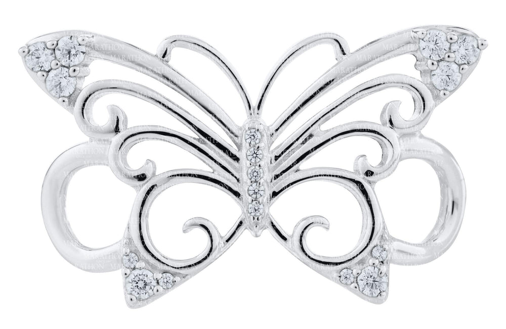 LeStage Pierced Butterfly Clasp with Swarovski crystals SB5925