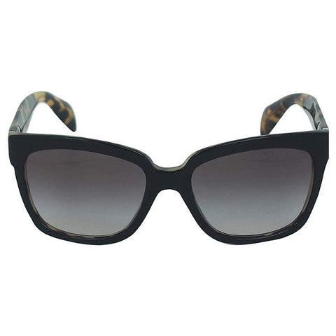 Prada PR 07P NAI0A7 - Top Black/Medium Havana