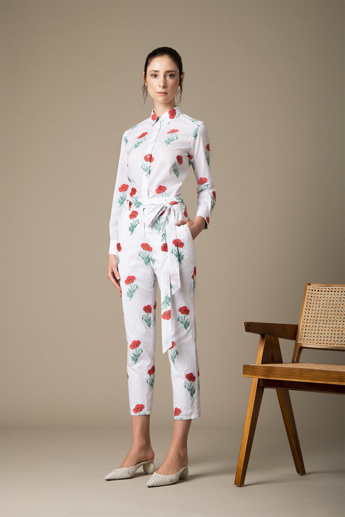 Danielle Fichera - Resort 2020 - Lucy Pants in White and Red