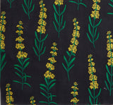 Danielle Fichera Black and Yellow Fil Coupe Fabric