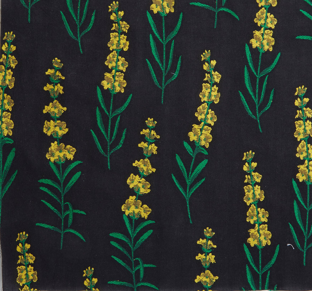 Danielle Fichera Bespoke Black and Yellow Fil Coupe Fabric