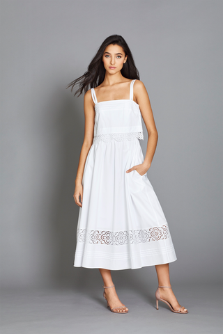 Amara Dress in White