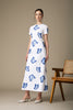 Danielle Fichera - Resort 2020 - Annabelle Dress in White and Navy Butterfly