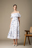 Clara Dress in White and Navy by Danielle Fichera in Resort 2020