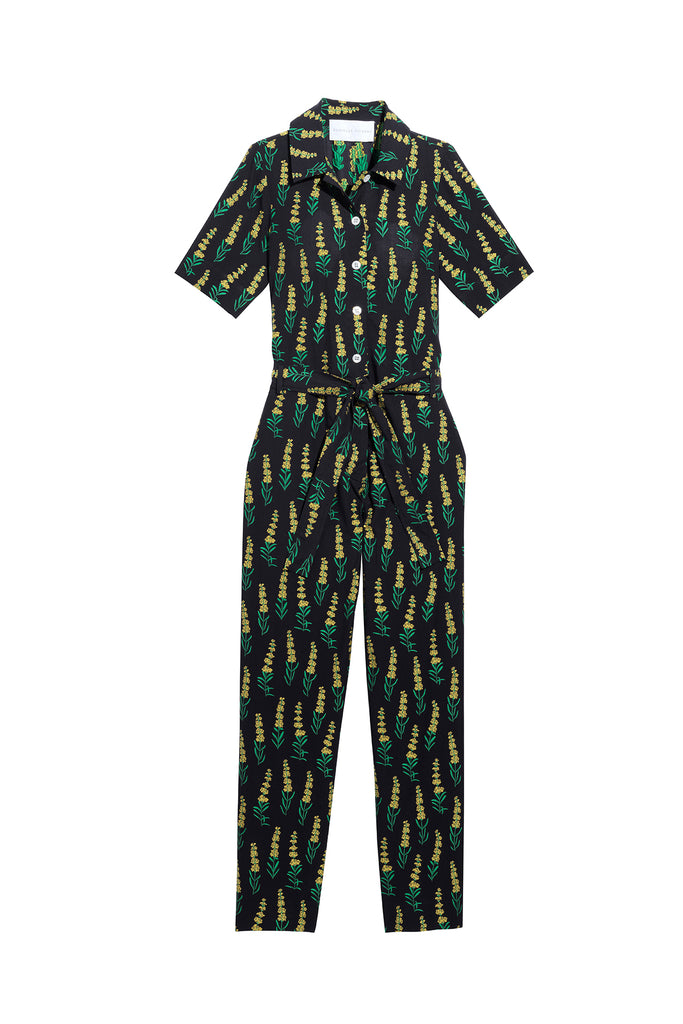 Danielle Fichera - Resort 2020 - Chloe Jumpsuit in Black and Yellow