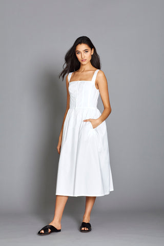 Olympia Dress in White