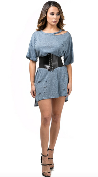KOURTNEY T-SHIRT BELT-DRESS