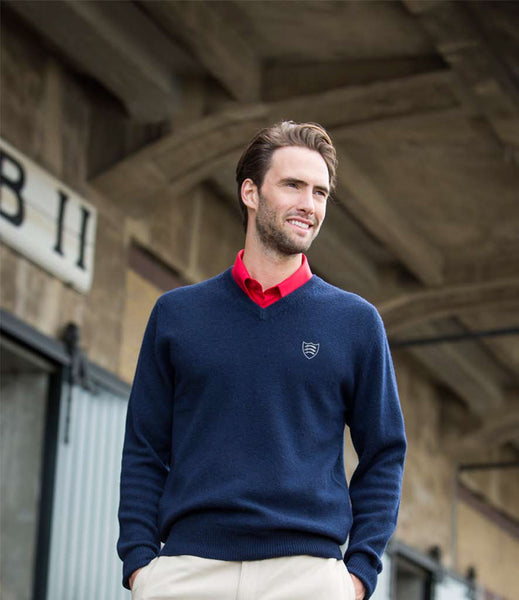 Men's Lambswool V Neck Sweater