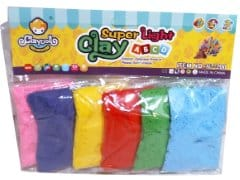 Clay Set 6pk. Ass't Colours Super Light Claydoll
