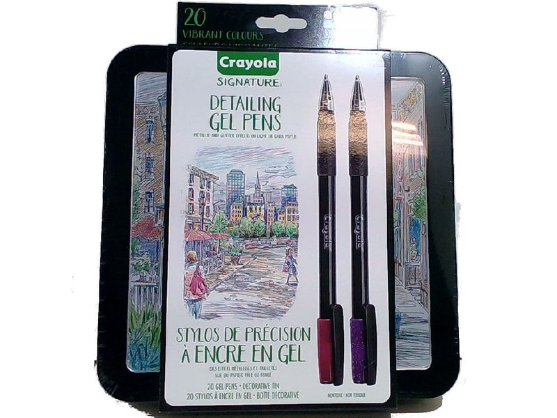 Gel Pens Detailing 20pk. w/Decorative Tin Crayola Signature