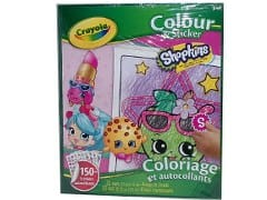 Book Colour & Sticker Shopkins 15+ Stickers Crayola