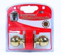 entry lock polished brass