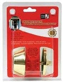dead bolt lock polished brass single cylinder