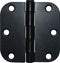 Hinge - door 3 inch black finish set of 2 w/screws