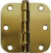 Hinge - door 3 inch brass plated set of 2 w/screws