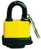 Padlock laminated 50mm with plastic cove