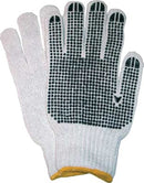 Glove knit blk dots yellow (M)