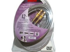 Cable Coax 12ft Rg-6 Gold Plated Rca