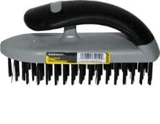 Wire brush carbon steel 5x18 row rubber handle