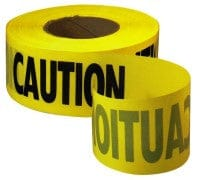 Caution tape 3 inch by 1000 feet