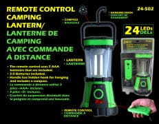 Lantern 24 LED remote control camping with built in compass