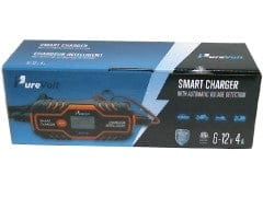 Smart Charger w/Auto Voltage Detection 6-12V 4A Pure Volt