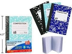 Composition book 3.25x4.5inch 160 page 2 pack