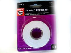 "Adhesive Roll Stic Mount 3/4""x72"" Picture Hanging"