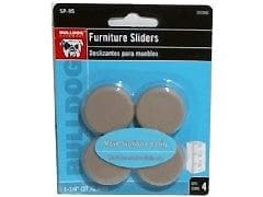 "Furniture Slider 4pk. 1-1/4"" Bulldog"