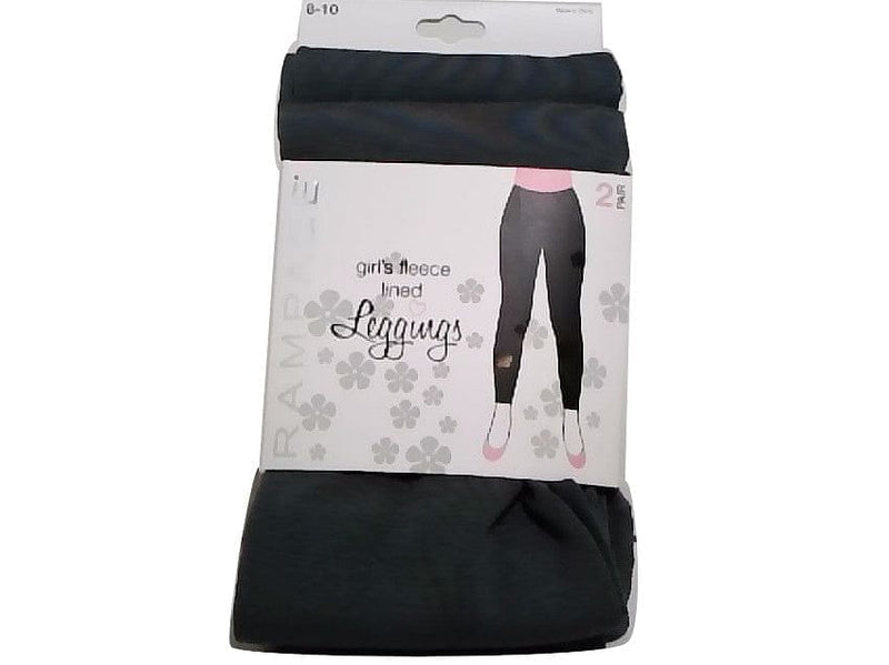 Leggings 2pk. Girls Fleece Lined Grey Size 8-10 Rampage