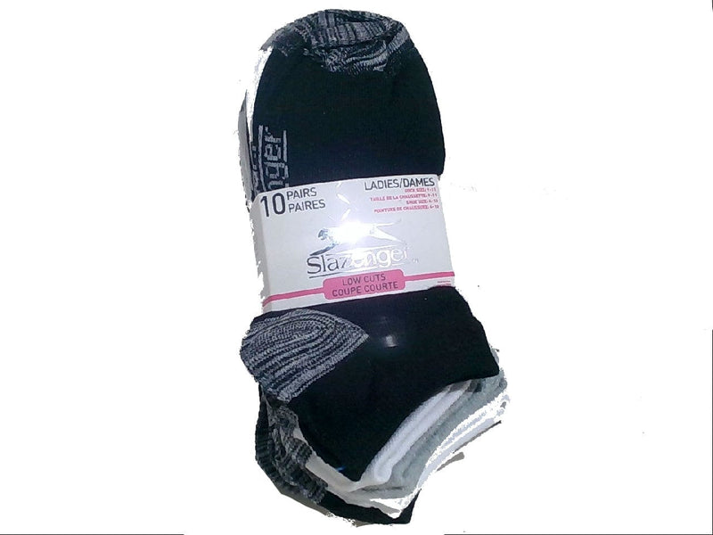Socks Ladies 10pk. Low Cuts Black/Ass't Colours Slazenger