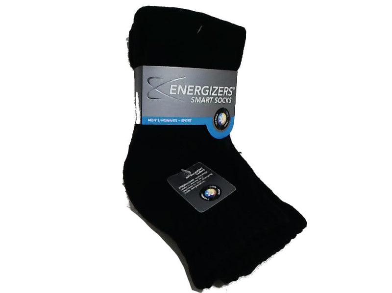 Socks Mens 2pk Sport Black Smart Energizer