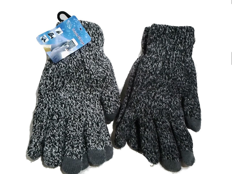 Gloves Winter Screen Touch Asst 2-tone Colours