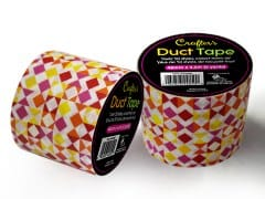 Crafters Duct Tape, Geo-Red 48mm x 4.5M (5 Yards) Time 4 Crafts