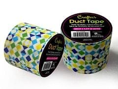 Crafters Duct Tape, Geo-Blue 48mm x 4.5M (5 Yards) Time 4 Crafts