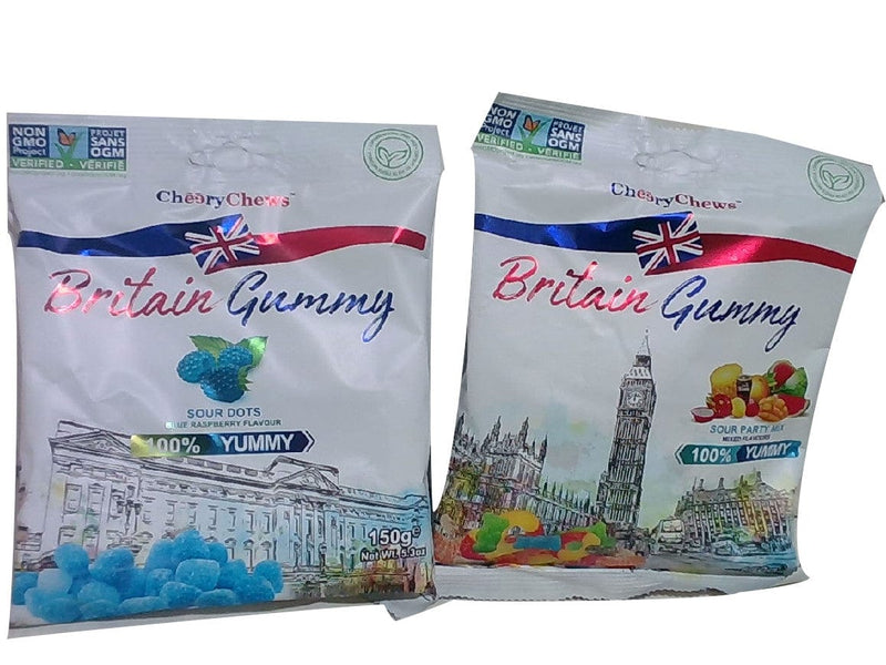 Sour Candy 150g. Bag Britain Gummy Ass't