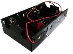 Battery holder 4D cell with wires and connector