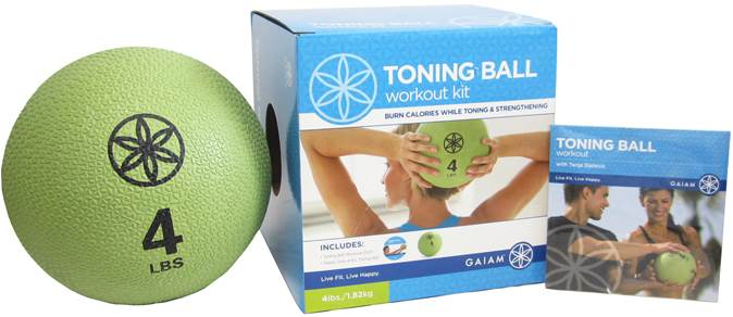 Gaiam toning ball with DVD 4lbs
