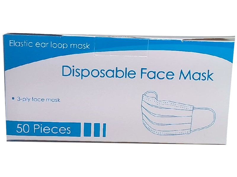 50pk 3ply Disposable Face Masks