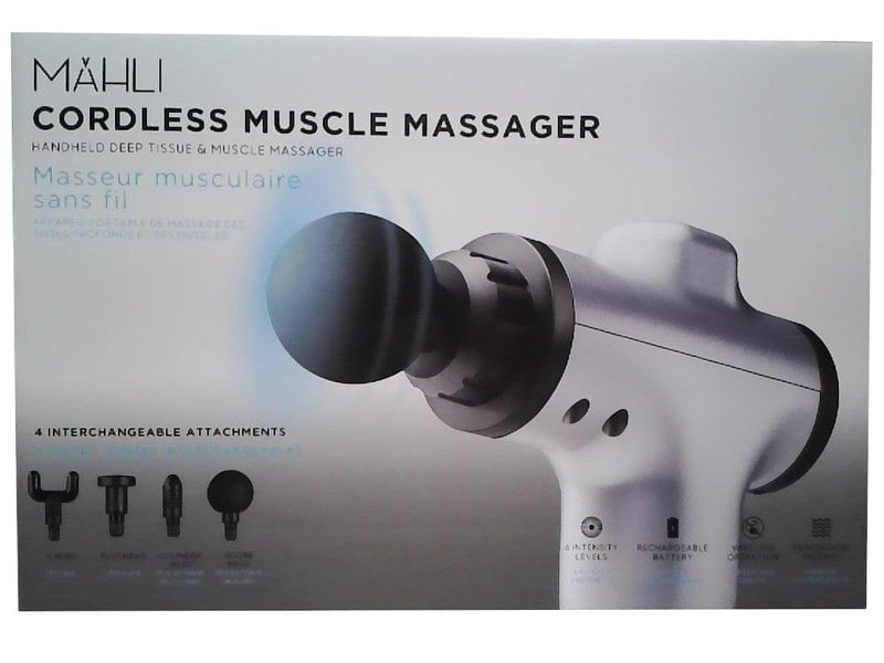 Muscle Massager Cordless w/4 Attachments Mahli